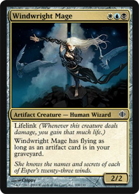 Esper Artifact Commander Deck by Windwright Mage Shards Of Alara Magic The Gathering