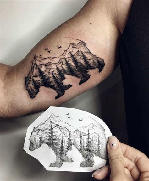 dessins originaux de tatouage montagne