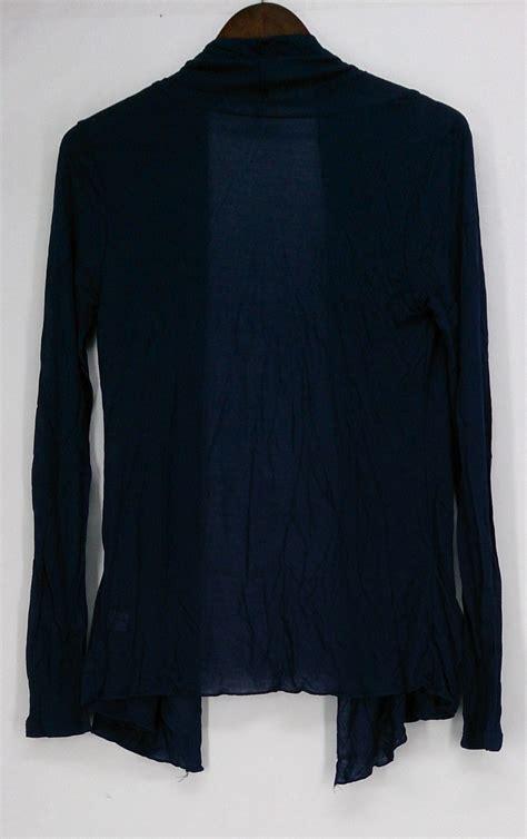 Zenana Outfitters Sweater M Long Sleeve Cardigan Royal Blue | eBay