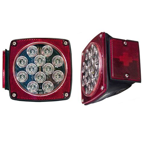 Blazer Trailer Lights by Blazer International Led Clear Lens Submersible Trailer