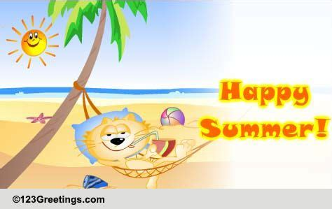 bright  sunny summer wishes  happy summer ecards