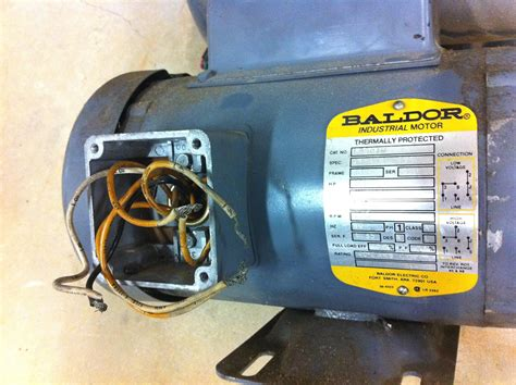 baldor   hp single phase motor wiring diagram