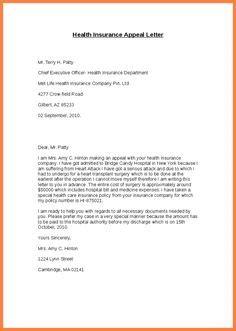 letter  appeal  medical claim denial  sample