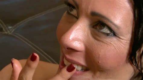 Womans Tasting The Flavor Of Animals Sperm Playful Hooker Hates The Taste Of Sperm Dessert Mix Nailed