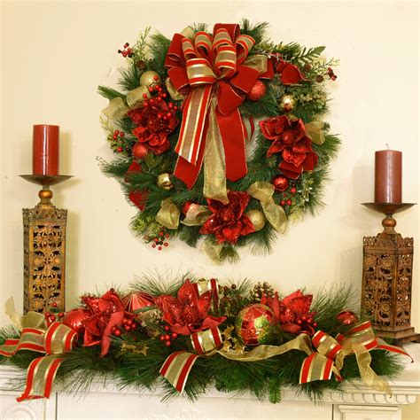 christmas decorations floral home decor silk flowers
