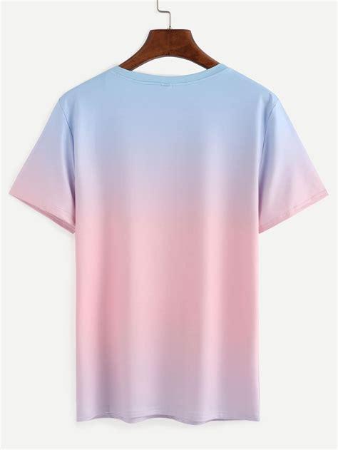 Ombre Dip Dye T Shirt Sheinsheinside