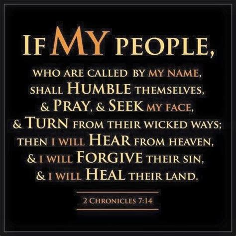 The Living €� 2 Chronicles 714 (nkjv)  If My People