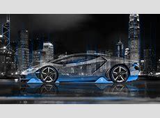 Lamborghini Centenario Side Crystal City Night Car 2016