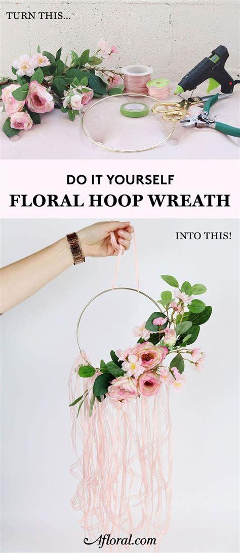 diy floral hoop wreath in 2019 crafty diy floral hoops