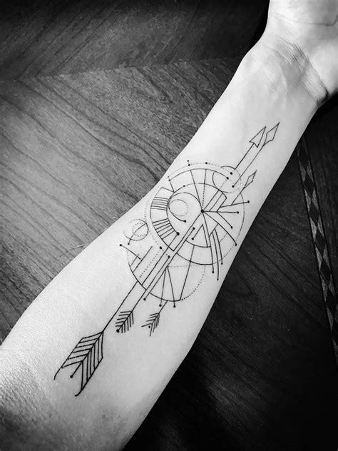 geometric  linear gesture  compass tattoo