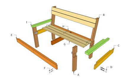 park bench plans myoutdoorplans  woodworking plans