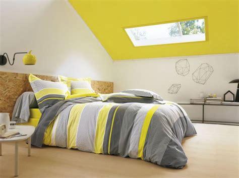 decoration chambre jaune et gris