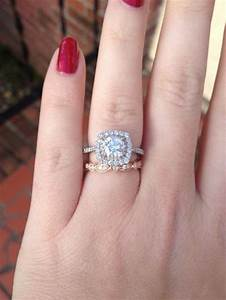 show off your white gold engagement ring with a rose gold With rose gold engagement ring white gold wedding band