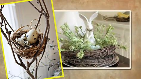 Easter Decorating Ideas Spring Decor With Nests And
