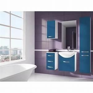 Meuble De Salle De Bain Bleu : iris bleu salle de bain 1m20 6 elements achat vente salle de bain complete iris bleu salle ~ Teatrodelosmanantiales.com Idées de Décoration