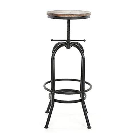 chaise de bar style industriel ikayaa tabouret de bar en pin et métal style industriel