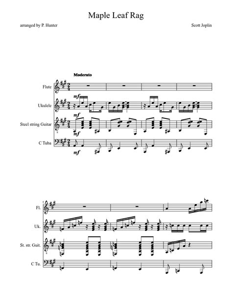 Browse our 7 arrangements of maple leaf rag. sheet music is available for piano, guitar with 3 scorings and 2 notations in 4 genres. Maple Leaf Rag Sheet music for Flute, Tuba (Mixed Duet)   Musescore.com