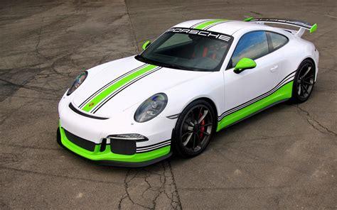 green porsche 911 porsche 911 gt3 gets epic lime green racing livery