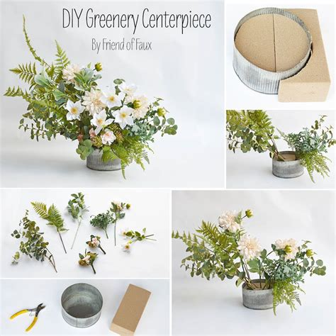 diy greenery centerpiece in 2019 set the table diy