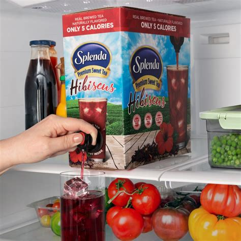 When i found out that splenda and other artificial sweeteners affected some people's blood if you are using stevia as a sweetener for your tea or coffee, the best choice is stevia liquid concentrate. Splenda Hibiscus Premium Sweet Tea | Delicious, Sweet, and Only 5 Calories!