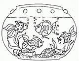 Aquarium Clipart Colouring Fish Coloring Printable Webstockreview sketch template