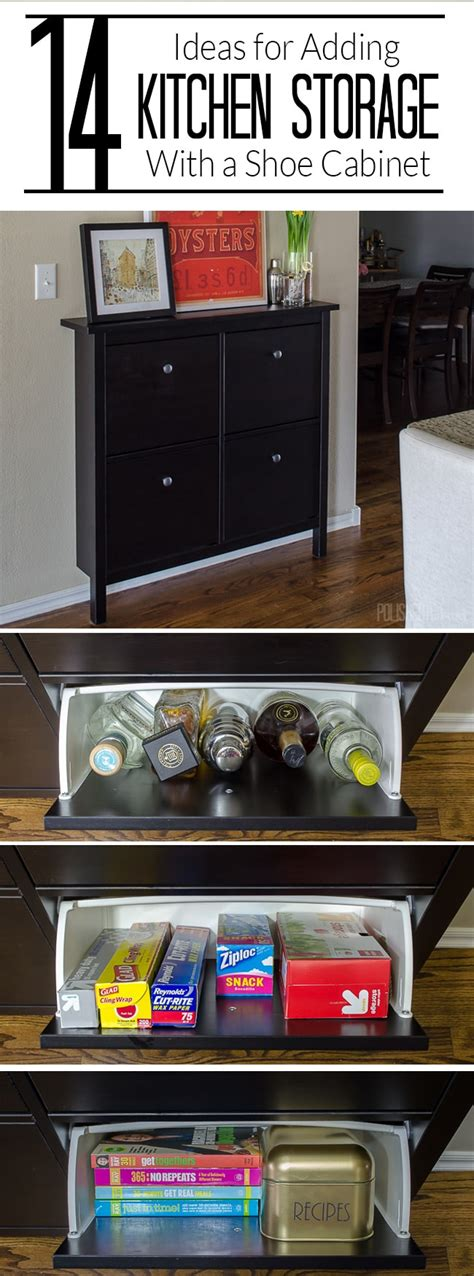 tiny kitchen storage ideas 14 ways to use an ikea shoe cabinet for kitchen storage