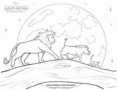 Lion King Coloring Pages Hakuna Matata Simba