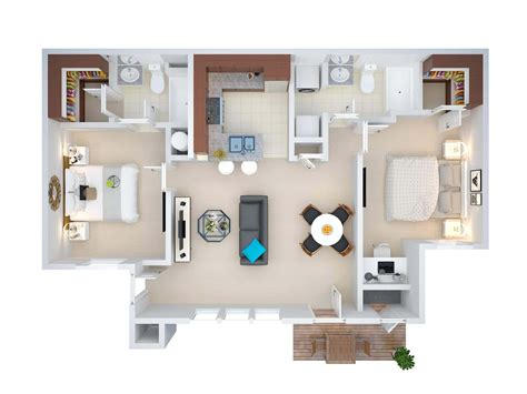 3d Small House Floor Plans, Small House Plans 3d