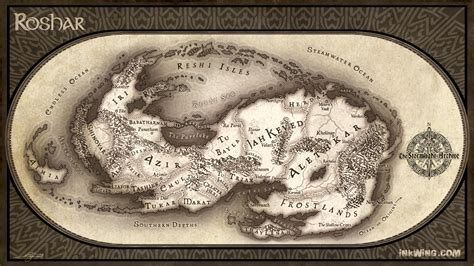 Song Of Ice And Fire Wallpaper Nerdovore Map Of Roshar From The Stormlight Archive