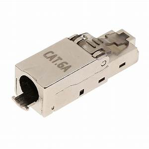 Cat6a Rj45 Network Connector Modular Plugs Shielded