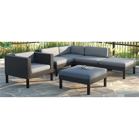 6 pc sectional chaise lounge chair patio set ppo 803 z