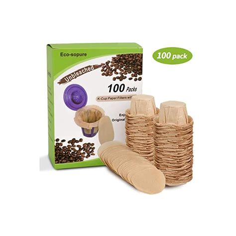 What's the best single cup coffee maker? Unbleached K cup Coffee Paper Filters with Lid Disposable for Keurig Reusable K Cup Filters ...