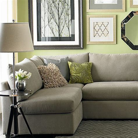 green and gray walls beckham u shaped sectional green grey and wall colors