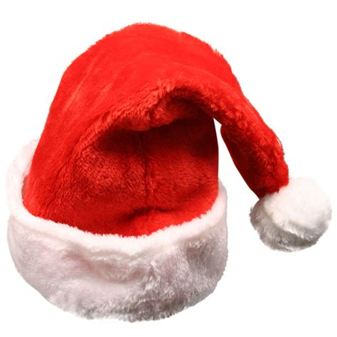 red christmas plush santa hat adult