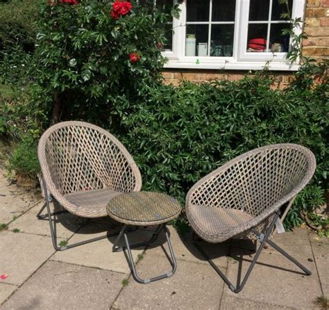 Garden furniture table and chair set — Ark Vintage ...
