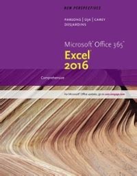 chapter myf solutions new perspectives microsoft office 365 excel 2016 1st edition chegg