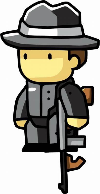 Gangster Clip Cartoon Scribblenauts Clipart Hat Wikia
