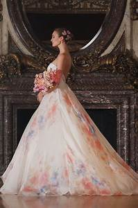 multi colored floral white bridal gowns womenitemscom With floral wedding dresses with color