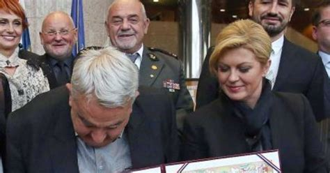 Croatian Rights Chief's Trousers Fall Down At Presidential