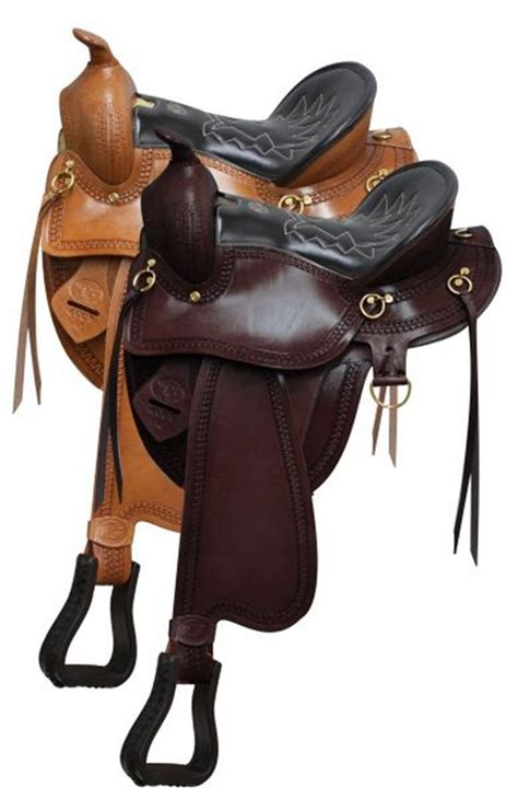 saddles horse saddle gaited horses tack double leather seat western quarter grain stirrup royal dixieland hay walking bars semi brown