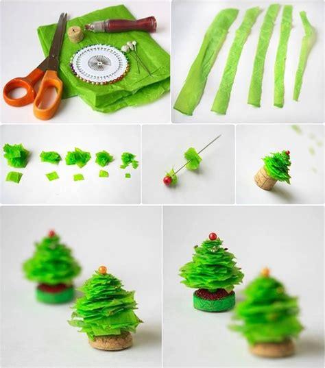 how to make mini christmas tree step by step diy tutorial