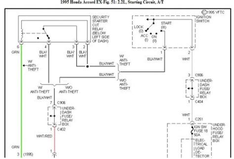 Honda Accord Wiring Starter Ignition Relay Mitsuba