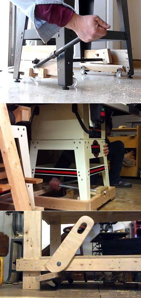 work bench base  wheels  woodworking