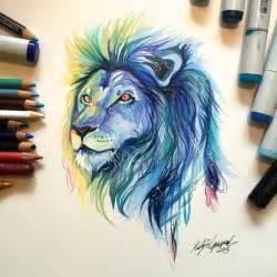 wild animal spirits  pencil  marker illustrations