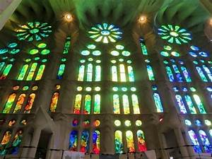 Sagrada Familia Architecture and Stained Glass Windows in ...