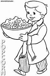 Popcorn Coloring Machine Printable Pop Corn Colorings Template sketch template