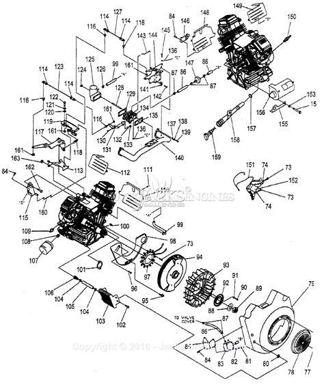 generac gtv   parts diagram  engine
