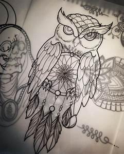 Best 25+ Owl dreamcatcher tattoo ideas on Pinterest ...
