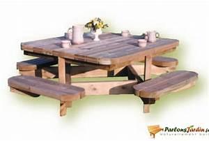 Table De Jardin En Bois Pas Cher : table de jardin bois pas cher ~ Teatrodelosmanantiales.com Idées de Décoration