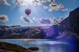 Sun, Nature, River, Mountain, Clouds, Snow, Hot, Air, Balloons, Wallpapers, Hd, Desktop, And, Mobile